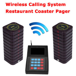 Restaurant Pager Pag  Calling Equipment System 1Transmitter&20 Coaster Pagers