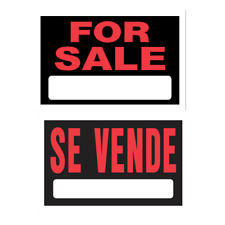 Hillman 848781 For Sale Se Vende,Spanish Reversible Plastic Sign, 8x12 In 1-Pk