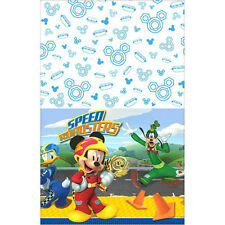 MICKEY MOUSE Roadster Racers PLASTIC TABLE COVER ~ Birthday Party Supplies Cloth