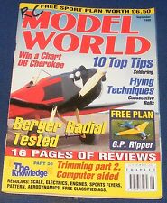 RC MODEL WORLD MAGAZINE SEPTEMBER 1999 - BERGER RADIAL TESTED