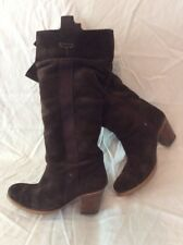 Fly London Brown Mid Calf Suede Boots Size 35