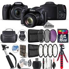 Canon PowerShot SX530 HS Camera + Spider Tripod + Monopad + Case - 16GB Bundle