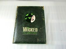 Wicked The Grimmerie Book And Playbill First Edition (A)
