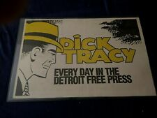 Vintage Dick Tracy Detroit Free Press Newspaper Box Ad Display.