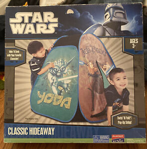 Star Wars Classic Hideaway Kids Tent Yoda Jedi 2010 Playhut Pop Up