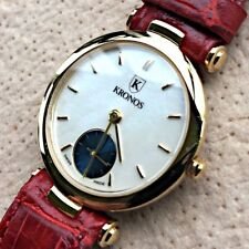 NOS New Kronos Mother of Pearl Vintage Watch 27 Watch Women