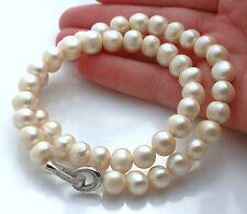 Lujoso Collar Perlas Cultivadas. Plata 1ª Ley 925. Nuevo.