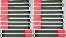 20 x SO Kabelklett Klettband 160 x 16 mm neon rot Klett Kabelbinder Klettbänder