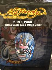 Ed Hardy By Christian Audigier 2 In 1 Pack Cable Tattoo Mouse And Mouse Pad