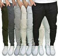Genetic Apparel Mens Designer Skinny Drop Crotch Cuffed Casual Joggers, BNWT