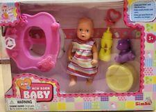 Simba Mini New Born Baby Doll  Walker Toilet Set  Access. Drink & wet Toy Rare