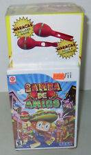 Samba de Amigo (Nintendo Wii, 2008) Sega Game Bundle Red Samba Samba Maracas NEW