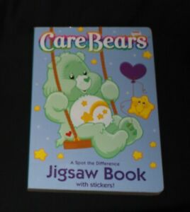 vintage CARE BEARS jigsaw puzzle book - 4 puzzles