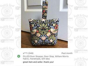 FILLED Door Stopper, Door Stop, William Morris Fabric, Handmade, Gift Idea