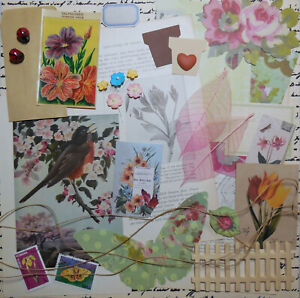 """Ephemera Pack """"Spring Garden"""" Junk Journal Collage Altered Art Scrapbook"""