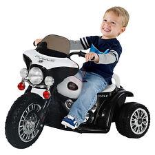 Kids Ride On Motorbike Motorcycle Tricycle Harley Police Style Bike Trike Car