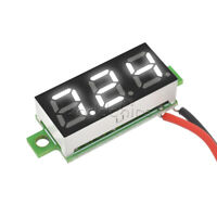 0.28 inch 2 Wire 3-Digit White LED Mini Digital Voltmeter DC Voltage Panel Meter