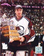 Patrick Roy Unsigned 8x10 Photo Colorado Avalanche Conn Smythe Trophy (1)