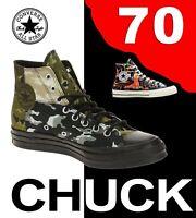 "CONVERSE CHUCK TAYLOR 70 ""ALL STAR"" HI BLOCK CAMO SURPLUS HIKER BOOT ZIP LEATHER"