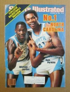 VINTAGE 1983 SPORTS ILLUSTRATED COVER SIGNED BY SAM PERKINS OF NORTH CAROLINA