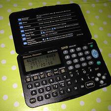 Zeon tech organisateur personnel 52KO mémoire réveil calculateur Scheduler RARE
