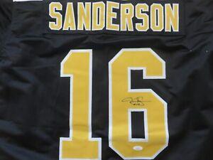 Derek Sanderson Signed Custom Boston Bruins Jersey JSA HOLO