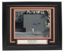 Willie Mays   Signed Framed Horizontal 8x10 Catch Photo Say Hey Hologram