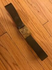 Soviet Army Leather Belt With Hammer & Sickle Buckle USSR KGB FSB CCCP