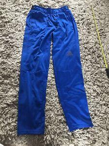 Adidas Mens Climalite Blue Tracksuit Bottoms Size M