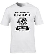 Chess Player Custom Men's T-Shirt World Best Job Game Board Strategy Gift Name
