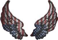 Sticker aufkleber flugel motorrad biker flagge fahne USA amerika