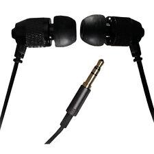 Engranaje de extremo lejano corto brotes-Cable Corto Estéreo Auriculares-Negro