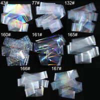 Nail Foils Stickers Glitter Holographic Decal Nail Art Starry Sky Paper Transfer