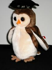 Ty Beanie Baby Wise the Owl with Graduation Cap Class of '98 4187 1998