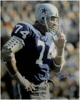 Bob Lilly Hand Signed Autographed 16x20 Photo Dallas Cowboys HOF 80 W/ COA