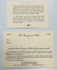 1961 John F Kennedy Inaugural Ball Committee Invitation Political Memorabilia