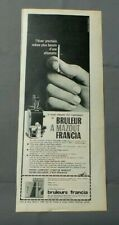 PUBLICITE ANCIENNE ADVERT CLIPPING 150519 / BRULEUR A MAZOUT FRANCIA