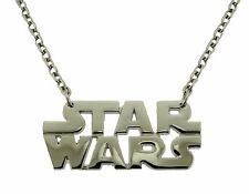Star Wars Pendant Necklace Dog Tag Chrome Metal Usa American Movie Logo Western.
