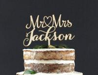 Personalized Mr & Mrs Wooden Wedding Cake Topper Decoration Keepsake