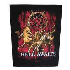 Slayer Rückenaufnäher hell Awaits One Size Schwarz-rot Backpatch