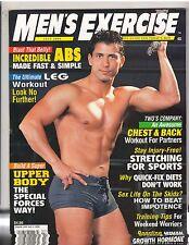 Men's Exercise Bodybuilding Muscle Magazine/Dan Decker with poster 7-00