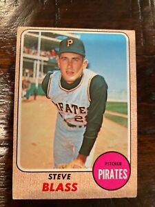 Topps Steve Blass 1968 #499 very good condition one owner