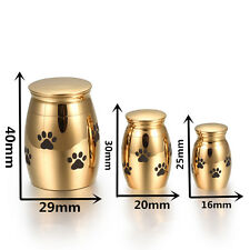 3 Size /Colors Pet Funeral Urn Stainless Steel Cremains Ash Urn Holder Dog/Cat