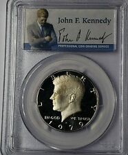 1979-S PCGS PR70DCAM TYPE 2 Kennedy Half Dollar PRESIDENTIAL LABEL