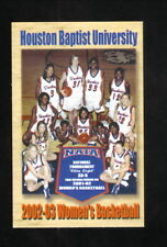 Houston Baptist Huskies--2002-03 Basketball Pocket Schedule