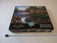 Cabin Fever 2000 Piece Puzzle  Kim Norlien painter of peace Buffalo pre owned