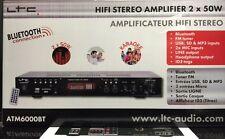 LTC ATM6000BT,100W Hifi Stéréo Ampli Karaoke avec Bluetooth / USB /TUNER FM