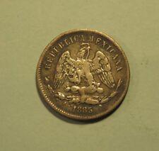 Mexico 25 Centavos 1885 Zs S Silver Wold Coin Eagle Scales Zacatecas Mexicana