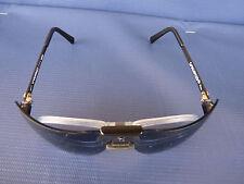NOS Vtg. Gargoyles Terminator Black Frame Blue 85mm Sunglasses USA w/Pop Insert