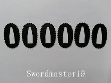 6 Black Seppa Washer Spacer for Japanese Katana Wakizashi Tanto Sword